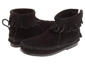 Minnetonka Kids Back Zipper Boot Hardsole (Toddler/Little Kid/Big Kid)