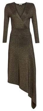 A.L.C. Women's Morrow Metallic V-Neck Dress - Black Gold - Size XS