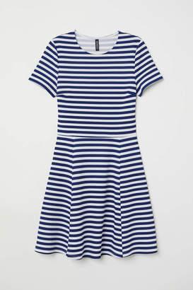 H&M Jersey Dress - White/blue striped - Women