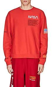 Heron Preston Men's Embroidered Cotton Fleece Sweatshirt - Red
