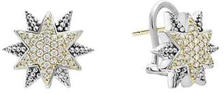Lagos 18K Gold & Sterling Silver North Star Diamond Small Stud Earrings
