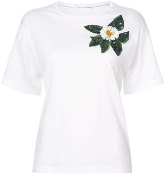 Oscar de la Renta appliqué detail T-shirt