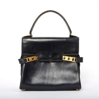 Delvaux Navy Leather Handbags