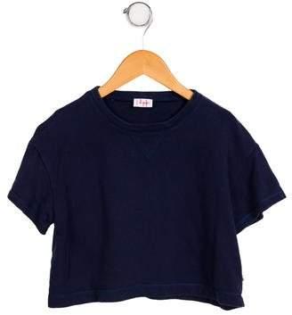 Il Gufo Girls' Cropped Oversize Sweatshirt