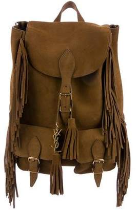 Saint Laurent Festival Suede Fringe Backpack