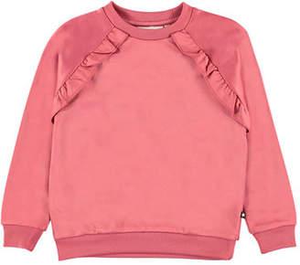 Molo Girl's Michaela Ruffle Trim Sweatshirt, Size 4-12