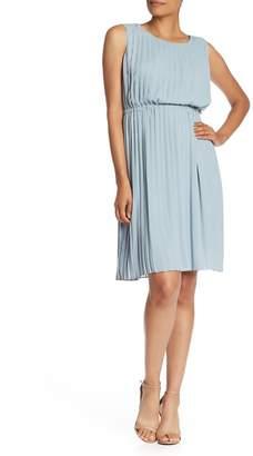 Maggy London Sleeveless Pleated Flirty Dress