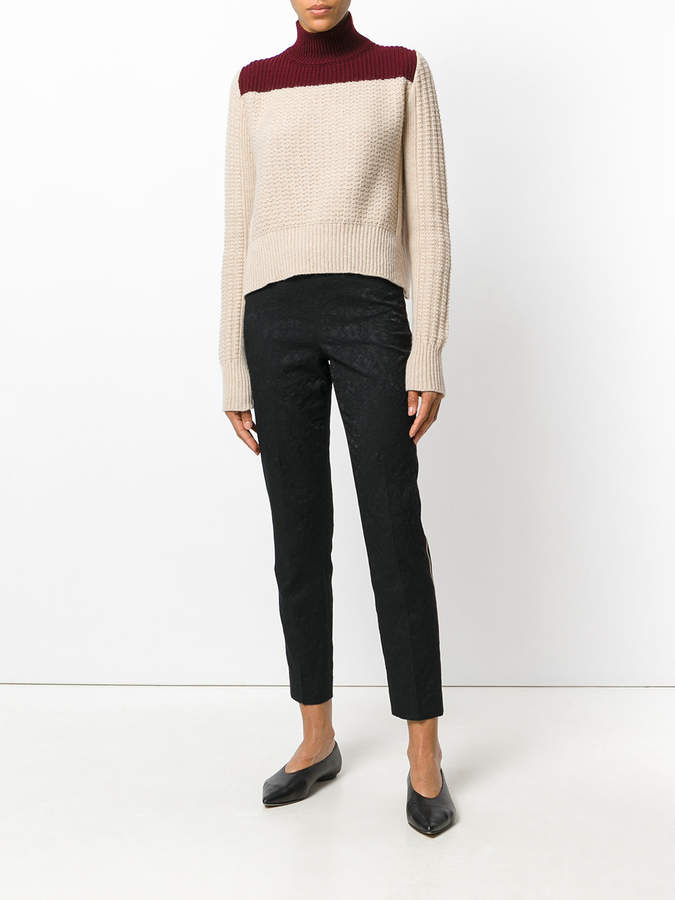 Pt01 jacquard cropped trousers