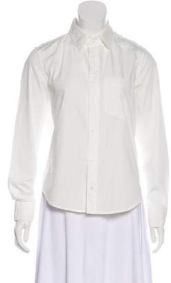 Amo Long Sleeve Button-Up Top