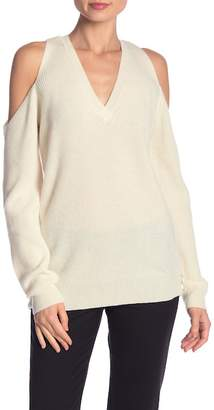 Milly Cold Shoulder Cashmere Sweater