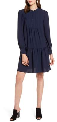 Halogen Pintuck Detail Shift Dress