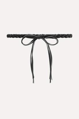 Isabel Marant Darla Braided Leather Waist Belt - Black