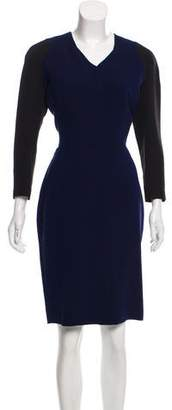 Victoria Beckham Sheath Long Sleeve Dress