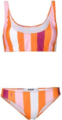 MSGM striped bikini two-piece