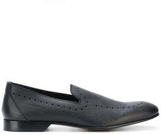 Dolce & Gabbana punch hole detailed loafers
