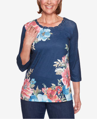 Alfred Dunner News Flash Floral-Print Top