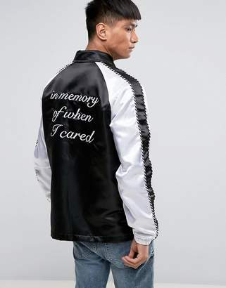 Night Addict Embroidered Back Coach Jacket