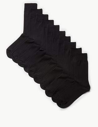 """Marks and Spencer 10 Pack Cool & Freshfeetâ""""¢ Cotton Rich Socks"""