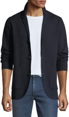 Neiman Marcus Men's Merino Wool Blazer Cardigan