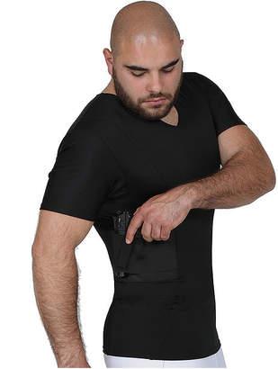 INSTA SLIM Insta Slim Mens Compression Concealment V-Neck Shirt
