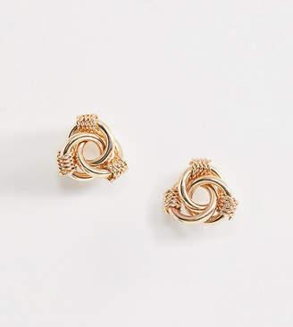 Aldo Hopfensperger twisted knot earrings in gold