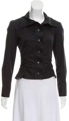 Louis Vuitton Ruched Button-Up Top