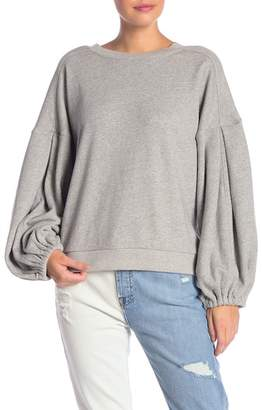7 For All Mankind Puff Sleeve Sweatshirt