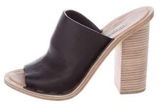 Balenciaga Leather Slide Sandals