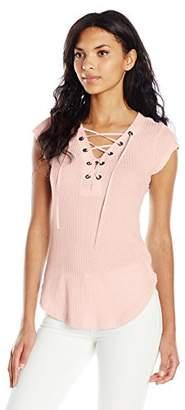 William Rast Women's Gordon Trifecta Cap Sleeve Knit Top