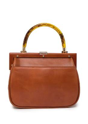 Most Wanted Design by Carlos Souza Turtle ShellTop Leather Handbag