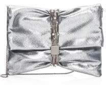 Jimmy Choo Chandra Metallic Leather Belted Clutch