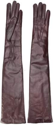 Ann Demeulemeester long leather gloves