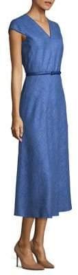 Max Mara Caramba Cap-Sleeve Dress