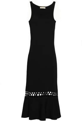 MICHAEL Michael Kors Crochet-trimmed Stretch-knit Midi Dress
