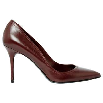 Alexander McQueen Burgundy Leather High Heel