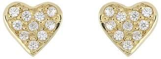 Bony Levy 18K Yellow Gold Diamond Heart Stud Earrings - 0.08 ctw