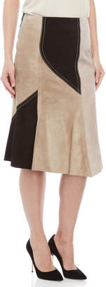 Derek Lam Abstract Pieced Midi Skirt