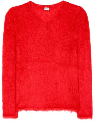 Saint Laurent Mohair-blend sweater
