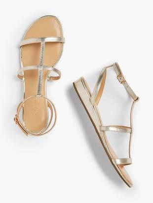 Talbots Daisy Gladiator Micro-Wedge Sandals - Metallic