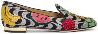 Charlotte Olympia Multicolor Fruit Salad Slippers