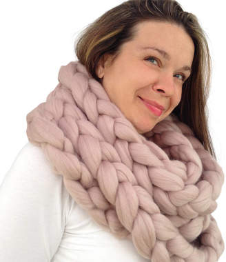 Wool Couture Chunky Knit Scarf In Luxury Merino Wool