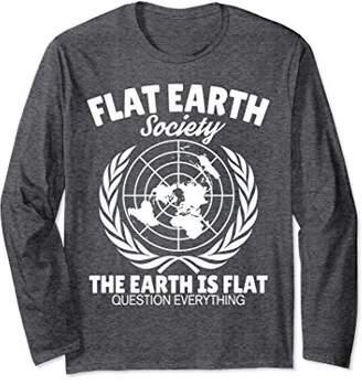 Flat Earth Society long sleeve teeshirt
