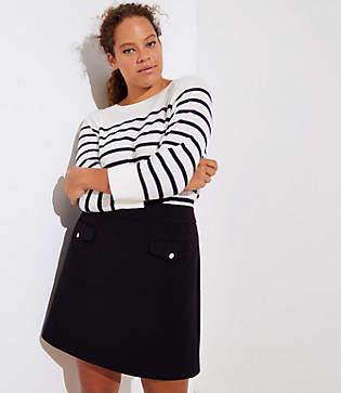 LOFT Plus Button Pocket Shift Skirt