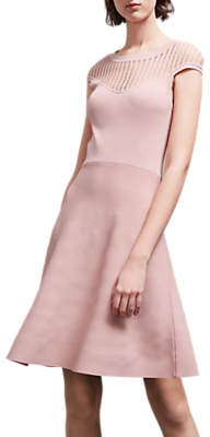 French Connection Crepe Knit Dress, Pink