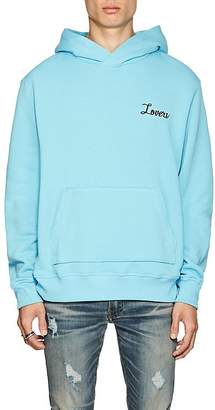 "Amiri Men's ""Lovers""-Embroidered Cotton Fleece Hoodie"
