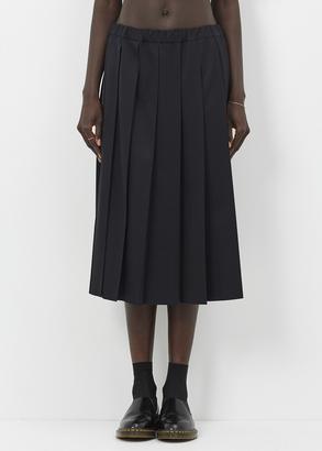 Comme des Garcons GIRL black pleat skirt $576 thestylecure.com
