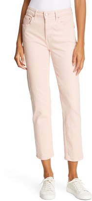 TRAVE Constance High Waist Ankle Straight Leg Jeans