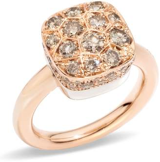 Pomellato Nudo Maxi Brown Diamond Solitaire Ring