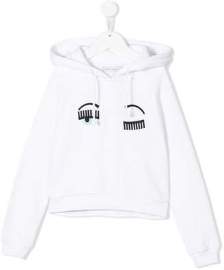 Chiara Ferragni Kids Wink embroidered hoodie
