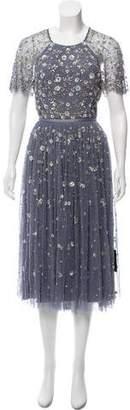 Needle & Thread Embellished Cutout Dress w/ Tags